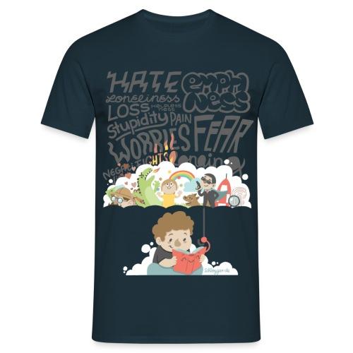 Bücher sind Freunde - Männer T-Shirt