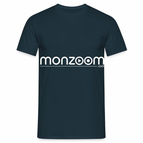 monzoom com logo white - Men's T-Shirt