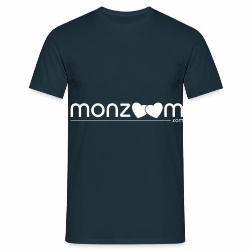 monzoom com valentines day white - Men's T-Shirt