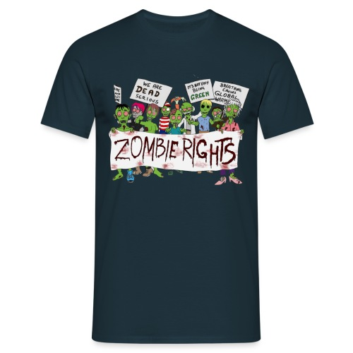 Zombie Rights Demo - Men's T-Shirt