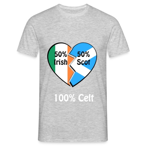 half-irish-half-scot-full - Men's T-Shirt