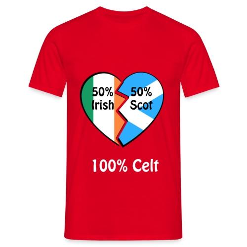 half-irish-half-scot-full - Men's T-Shirt