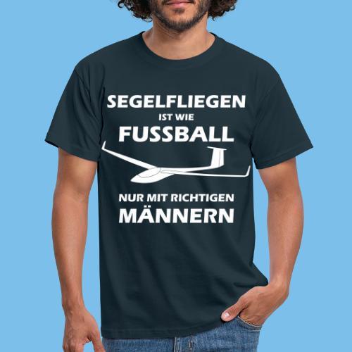 fussball segelflieger gleiten lustig Geschenk - Männer T-Shirt