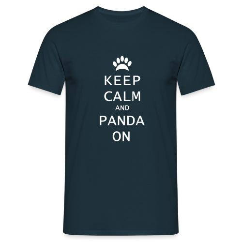 shirt keep calm and panda on png - Mannen T-shirt
