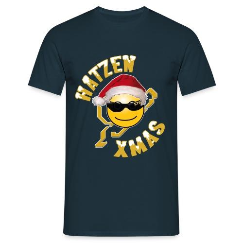 X Mas Hatze 2014 png - Männer T-Shirt