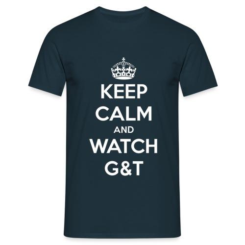 keep calm get bianco - Maglietta da uomo