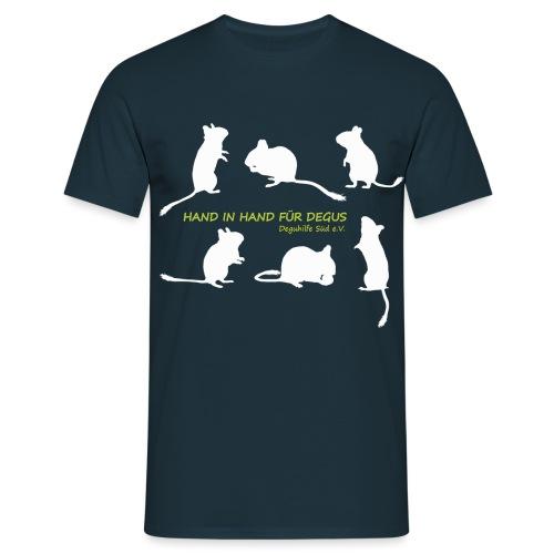 Schattenriss 6 Degus - Männer T-Shirt