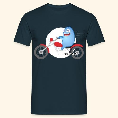 Cubanty mit Motorrad - Männer T-Shirt