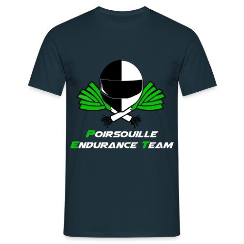 logo écriture blanche - T-shirt Homme