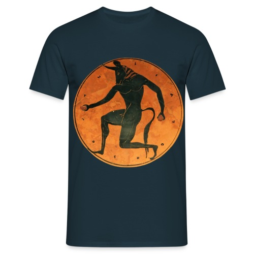 Tondo Minotaur London E4 MAN burned png - Men's T-Shirt