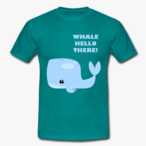 Whale Hello There - Herre-T-shirt