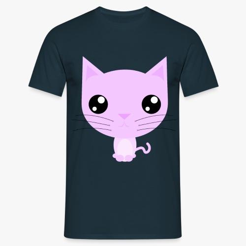 Kitty Pink - Herre-T-shirt