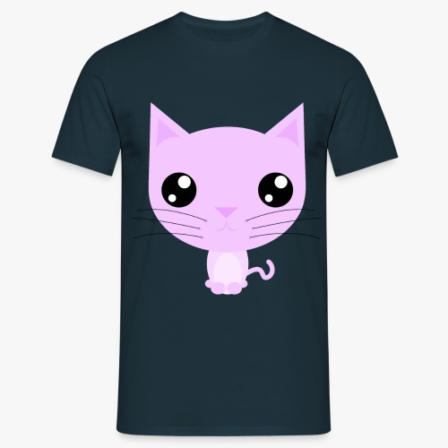 Kitty Pink - Herre-T-shirt