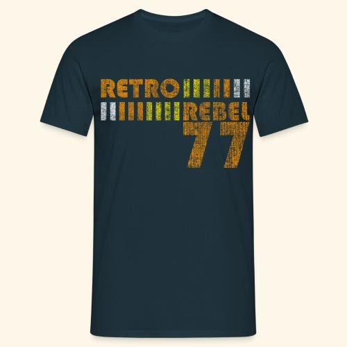 retrorebelheavy77 png - Herre-T-shirt