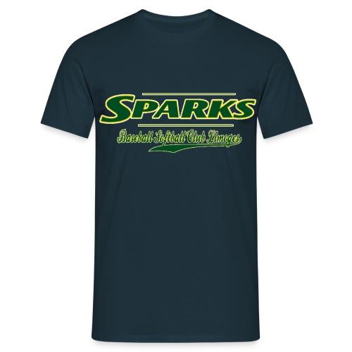 logo sparks fond vert 2 gif - T-shirt Homme