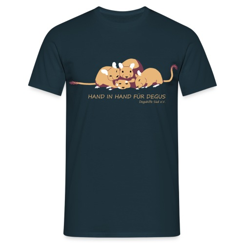 Kuschelhaufen mit Slogan - Männer T-Shirt