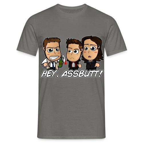 Chibi Super natural - Hey Assbutt - Men's T-Shirt