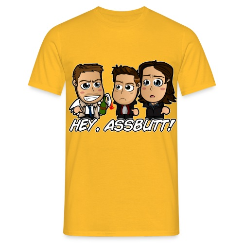 Chibi Super natural - Hey Assbutt - Men's T-Shirt