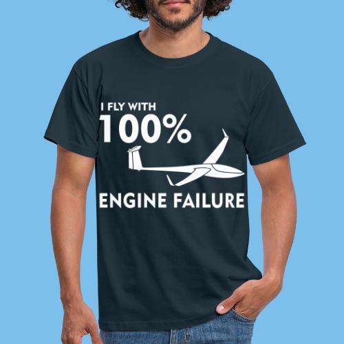 Motor Segelflugzeug lustig gleiten Segelflieger - Männer T-Shirt