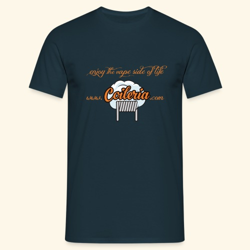 Coileria - enjoy the vape side of life - Männer T-Shirt