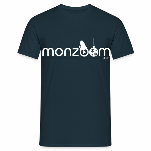 monzoom com christmas white - Men's T-Shirt