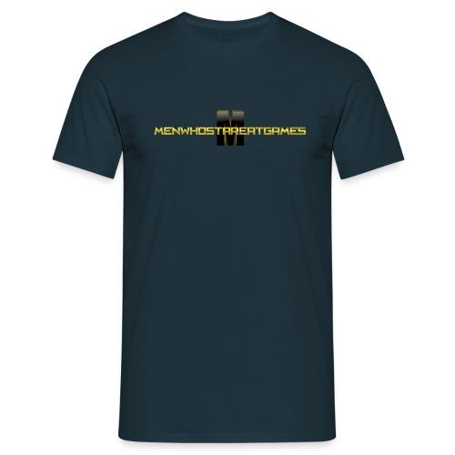 MENWHOSTAREATGAMES_LOGO t - Men's T-Shirt