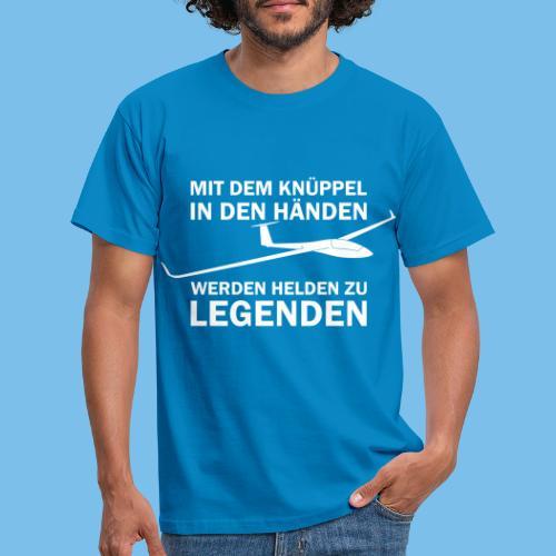Lustiger Spruch Segelflugzeug fliegen Segelflieger - Männer T-Shirt