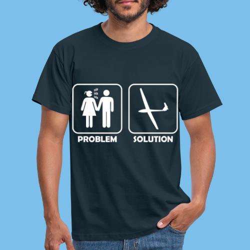 Segelflieger Problem lustiges Motiv Segelflugzeug - Männer T-Shirt
