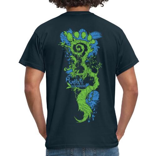 Parvati FootMoss logo in blue & green - Men's T-Shirt