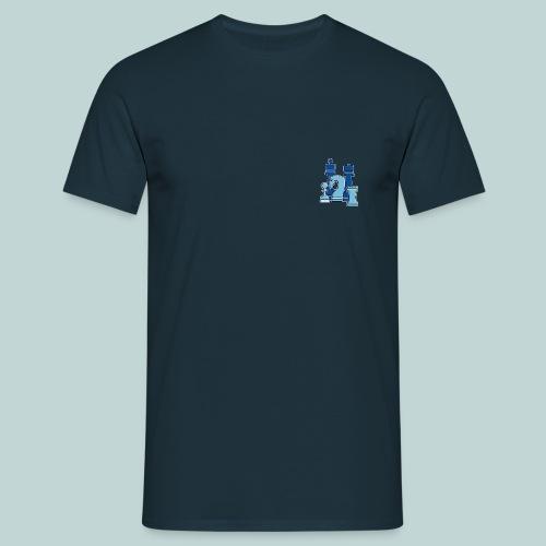 figurengruppeblau2kanten - Männer T-Shirt