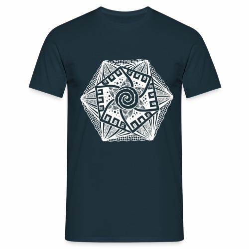 Sechseck white - Männer T-Shirt