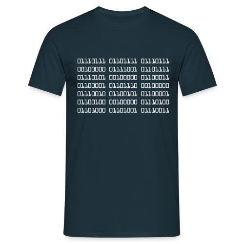 Wow Binary - Men's T-Shirt