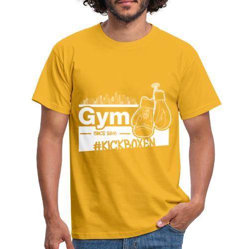 Gym Druckfarbe weiss - Männer T-Shirt