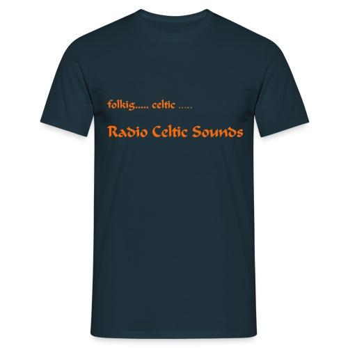 Shirt orange Schrift jpg - Männer T-Shirt