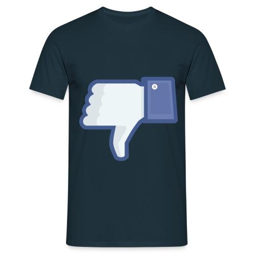 not facebook not like thumbs down - Men's T-Shirt