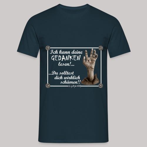 simply wild Gedanken lesen on black - Männer T-Shirt