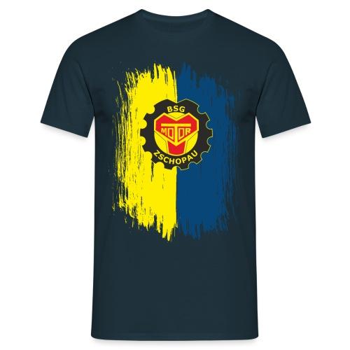 Blau-Gelb mit Wappen - Männer T-Shirt