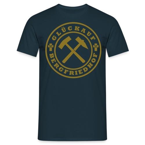 Wappen Glückauf groß Plott - Männer T-Shirt