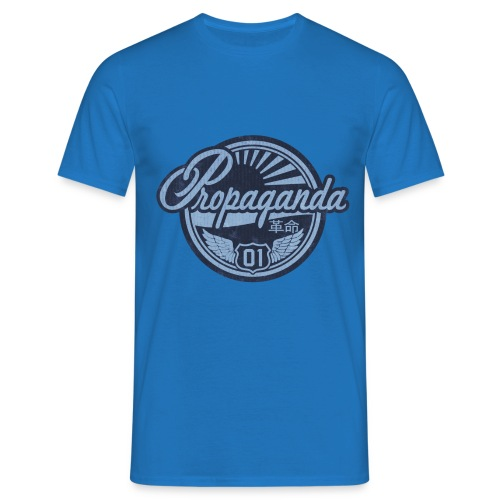 PROPAGANDA 01 BLUE - Men's T-Shirt