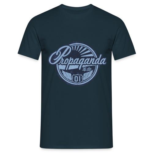 PROPAGANDA 01 BLUE - Men's T-Shirt