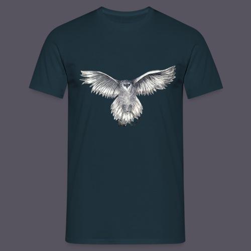 Eule mit Morgenstern - Männer T-Shirt