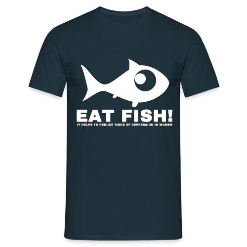 Eat Fish - Men's T-Shirt