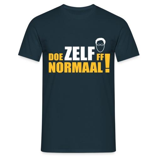 DOE ZELF FF NORMAAL! (Rutte) - Mannen T-shirt