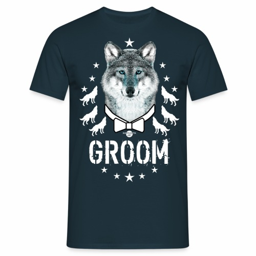 161 Wolf JGA GROOM Wolfpack Sterne - Männer T-Shirt