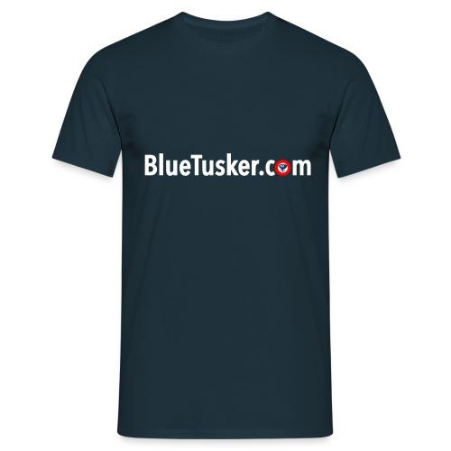 BlueTusker Schriftzug weiß - Männer T-Shirt