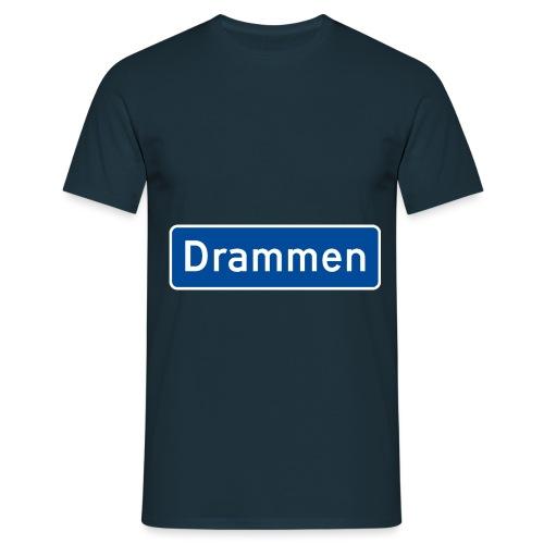 Drammen veiskilt (fra Det norske plagg) - T-skjorte for menn