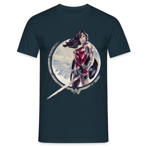 Warner Bros Wonder Woman Schwert Und Schild - Männer T-Shirt