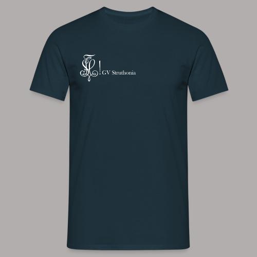Zirkel mit Name, weiss (vorne) - Männer T-Shirt