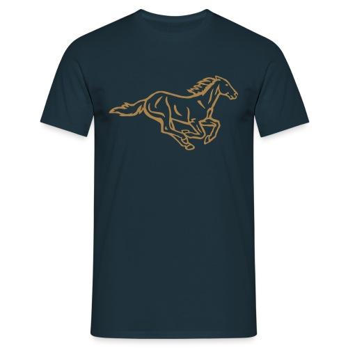 Galoppierendes Pferd - Männer T-Shirt