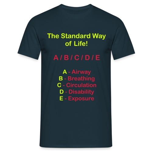 Rettungsdienst ABC Schema - Männer T-Shirt